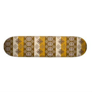 Skate Teste padrão africano étnico com simbols de
