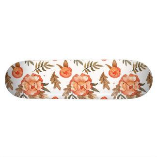 Skate Teste padrão de flor tirado do batik do outono mão