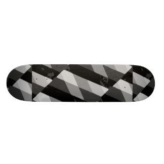 Skate Teste padrão listrado do Grunge preto e branco
