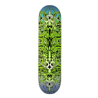 Skate tribal do tatuagem do império - verde e azul