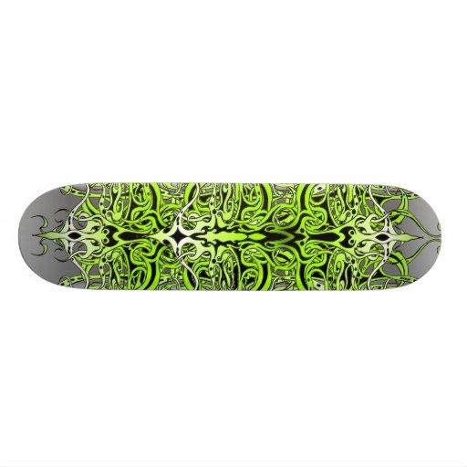 Skate tribal do tatuagem do império - verde