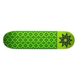 Skate verde do teste padrão de Zerodraline