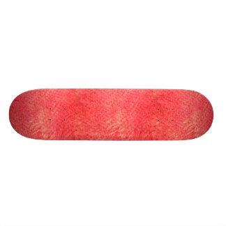 Skate vermelho da pele do falso
