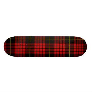 Skate vermelho do Tartan