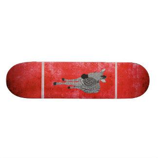 Skate vermelho retro de Zeb