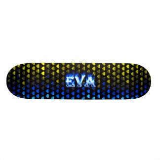 Skateboard. azul de Skatersollie do fogo de Eva