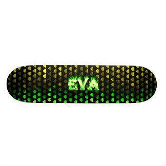 Skateboard. verde de Skatersollie do fogo de Eva