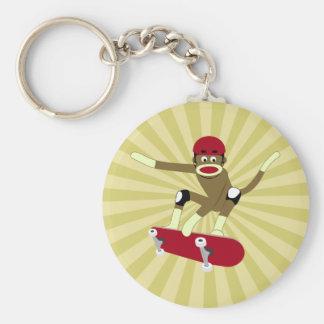 Skater do macaco da peúga chaveiro