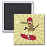 Skater do macaco da peúga ima de geladeira