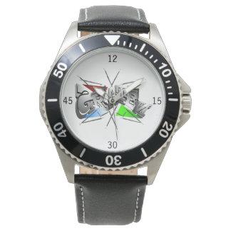 Skater genial cavalheiro relógio com pulseira