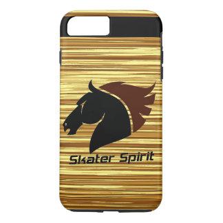 Skater Spirit 7 Plus iPhone capa com modelo de