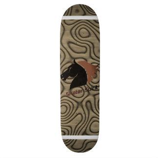 """""""Skater Spirit """" símbolo/monopatim em Castanho Shape De Skate 19,7cm"""