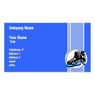 Skates do hóquei Azul Cartão De Visita