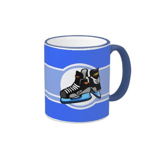 Skates do hóquei; Azul Caneca