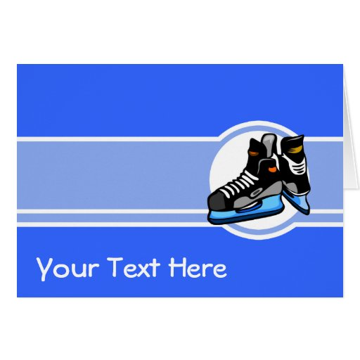 Skates do hóquei; Azul Cartão