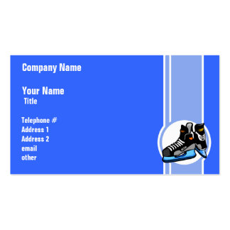 Skates do hóquei; Azul Cartão De Visita