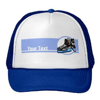 Skates do hóquei; Azul Bonés