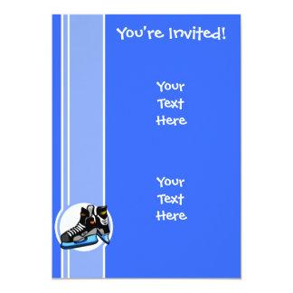 Skates do hóquei; Azul Convites