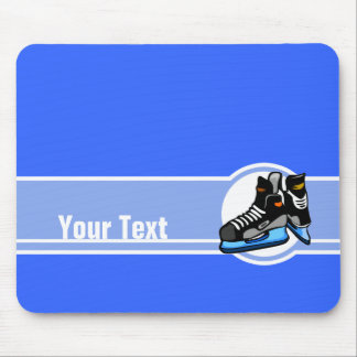 Skates do hóquei; Azul Mousepads