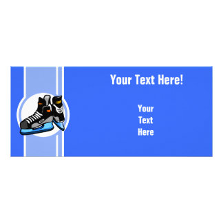 Skates do hóquei Azul Planfeto Informativo Colorido