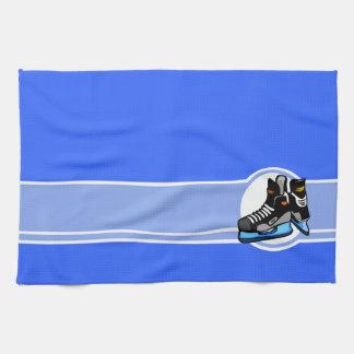 Skates do hóquei; Azul Toalha