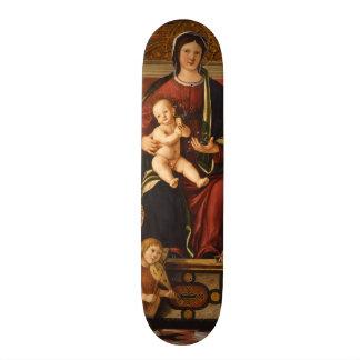 """""""Skates religiosos da arte do Virgin e da criança"""" Shape De Skate 20,6cm"""