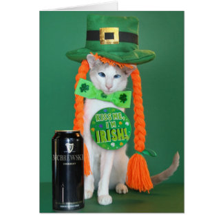 Skeezix McCat --- Cartão do dia de St Patrick do