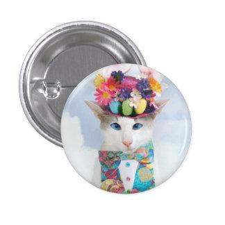 Skeezix o botão do coelhinho da Páscoa do gato Bóton Redondo 2.54cm