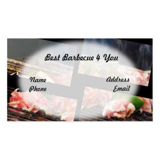 Skewers assados deliciosos da carne cartão de visita