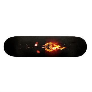 Skull ele incêndio shape de skate 18,4cm