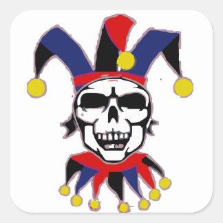 Skull Joker Adesivo Quadrado