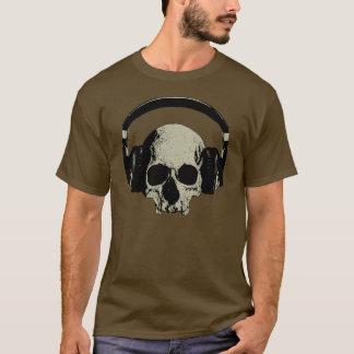 skull with headphones camiseta
