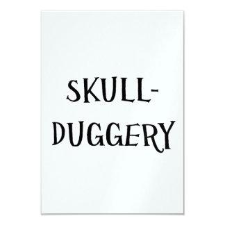 Skullduggery Convite 8.89 X 12.7cm