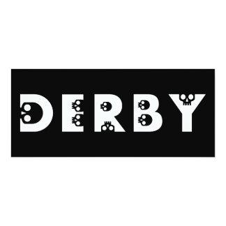 skullphabet de derby convite 10.16 x 23.49cm