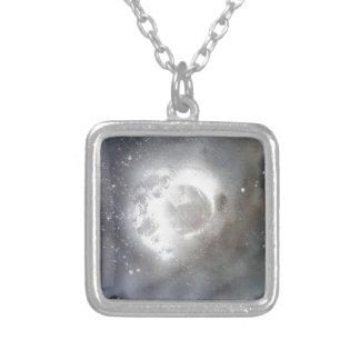 Sky moon colar com pendente quadrado