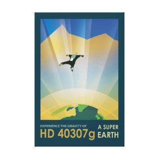 Skydiving em um Exoplanet estrangeiro Impressão Em Tela