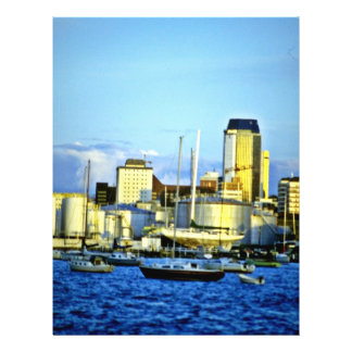 Skyline da cidade, Auckland, ilha norte Panfleto Personalizados