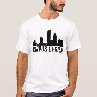 Skyline da cidade de Corpus Christi Texas Camiseta