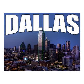 Skyline da cidade de Dallas Texas no cartão da