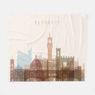 Skyline da cidade de Florença, Italia   Cobertor De Velo