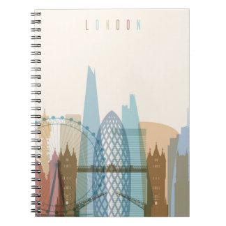 Skyline da cidade de Londres, Inglaterra | Caderno Espiral