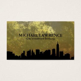 Skyline da cidade (ouro) cartão de visitas