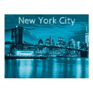Skyline da Nova Iorque no azul Cartão Postal