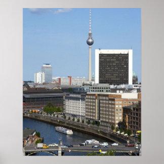 Skyline de Berlim, Alemanha Poster