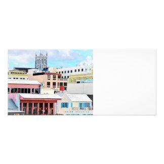 Skyline de Bermuda - de Hamilton Modelo De Panfleto Informativo