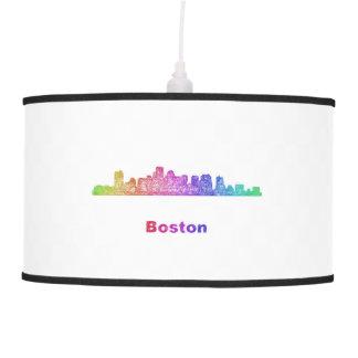 Skyline de Boston do arco-íris