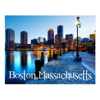 Skyline de Boston Massachusetts no cartão do por