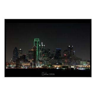 Skyline de Dallas Poster