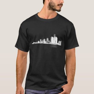 Skyline de Detroit Camiseta