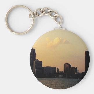 Skyline de Detroit Chaveiro